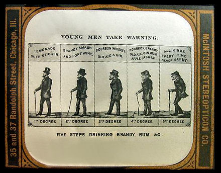 lantern slide temperance warning young men