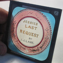 lantern slide temperance jessie dream